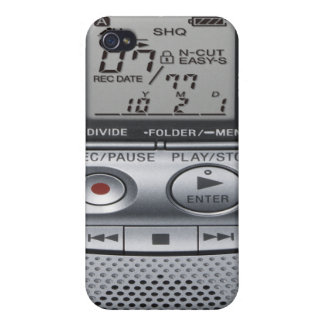 Voice Recorder iPhone 4/4S Case Cover - Silver