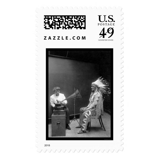 Voice Recording of a Blackfoot Indian 1909 Postage