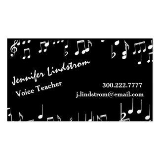 VOICE TEACHER Business Card Template Pack Of Standard Business Cards
