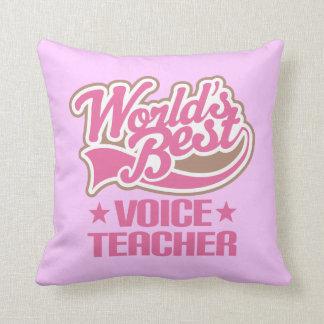 Voice Teacher (World Best) Music Appreciation Gift Throw Pillow