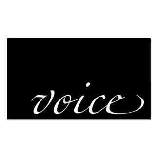 Voice: Voice Actor Business Card