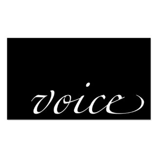 Voice: Voice Actor Business Card Template