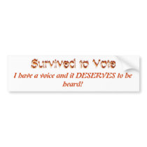 Voice your concerns bumper sticker