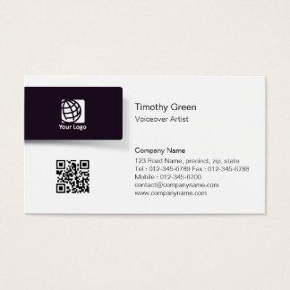 Voiceover Artist BlackTab Logo Simple BusinessCard Business Card