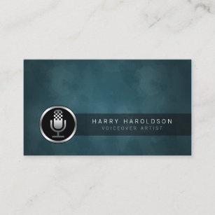 Voiceover artist business cards zazzle voiceover artist microphone icon business card colourmoves