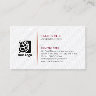 Voiceover artist business cards zazzle voiceover artiste entertainment skills simplelines business card colourmoves