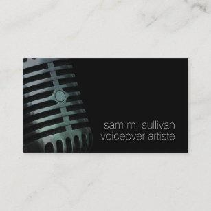 Voiceover artist business cards templates zazzle voiceover artiste vintage microphone entertainment business card colourmoves