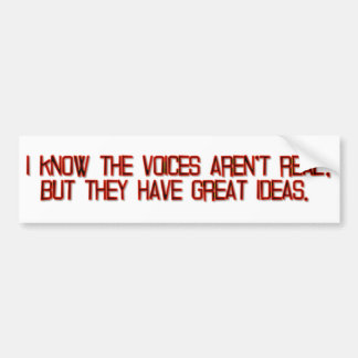 Voices and Ideas Car Bumper Sticker