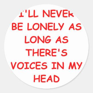 voices classic round sticker