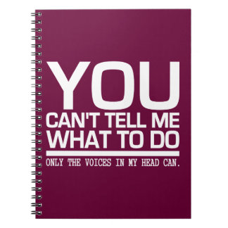 VOICES IN MY HEAD custom notebook