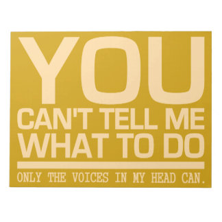 VOICES IN MY HEAD custom notepad
