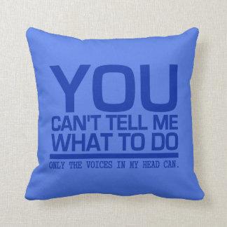 VOICES IN MY HEAD custom throw pillow