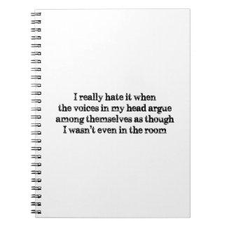 Voices In My Head Spiral Notebook