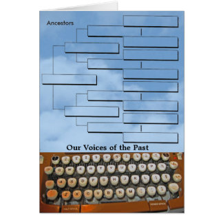 Voices of the Past Greeting Card