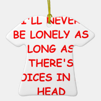 voices Double-Sided T-Shirt ceramic christmas ornament