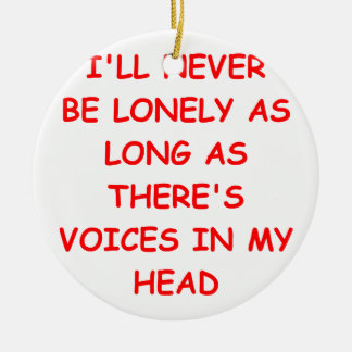 voices Double-Sided ceramic round christmas ornament