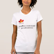 voices united for endometriosis t-shirt