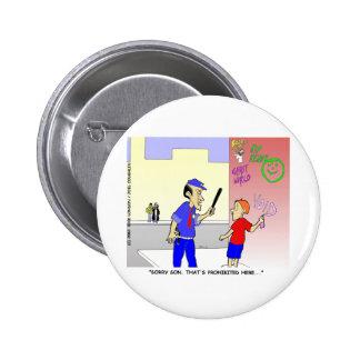 Void Graffiti Funny Police Cartoon Gifts & Tees Pin