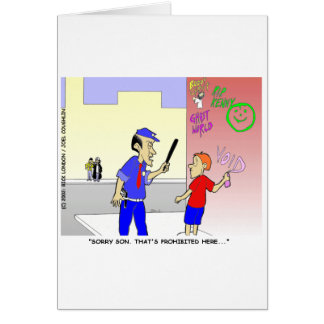 Void Graffiti Funny Police Cartoon Gifts & Tees Greeting Card
