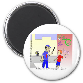 Void Graffiti Funny Police Cartoon Gifts & Tees Fridge Magnet