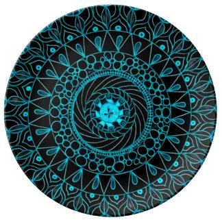 Void Mandala Ritual Plate Porcelain Plate
