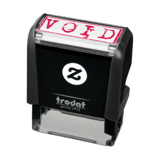 Void Typography Word Not Legally Binding Self-inking Stamp