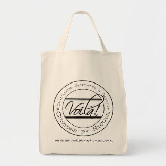 Voila! Customs by Nicole Grocery Tote Grocery Tote Bag