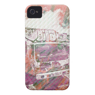 VOILA Le graffiti Truck SanFrancisco iPhone 4 Case-Mate Case