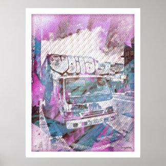 VOILA Le graffiti Truck SanFrancisco Poster