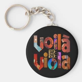 Voilà Viola! Basic Round Button Keychain
