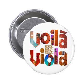 Voilà Viola! Pinback Button