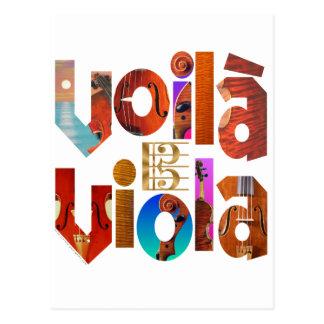Voilà Viola! Postcard