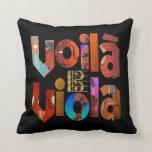 Voilà Viola! Throw Pillows