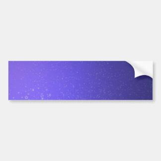 Voilet Abstract stars Car Bumper Sticker