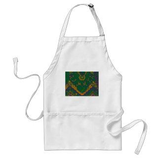 voilet green mosaic adult apron