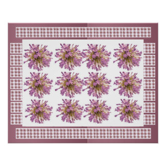 Voilet Purple  : LILY LILLY Flower Floral Print