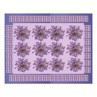 Voilet Purple  : LILY LILLY Flower Floral Poster