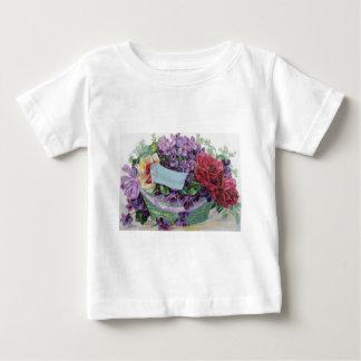 Voilet Rose Basket Floral Flowers Baby T-Shirt