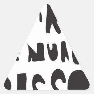 voire le nuage passe 02 triangle sticker