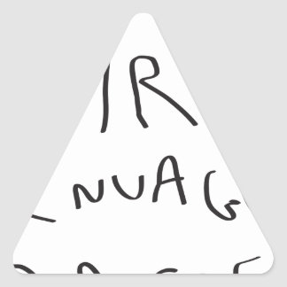 voire le nuage passe triangle sticker