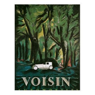Voisin automobiles postcard