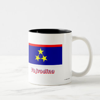 Vojvodina Flag with Name Two-Tone Coffee Mug
