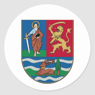 Vojvodina grb, coat of arms classic round sticker