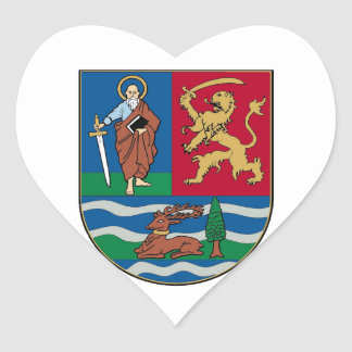 Vojvodina grb, coat of arms heart sticker