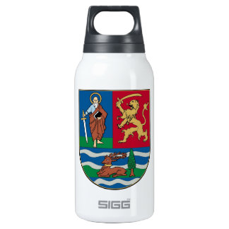 Vojvodina grb, coat of arms insulated water bottle