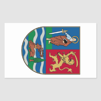 Vojvodina grb, coat of arms rectangular sticker
