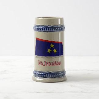 Vojvodina Waving Flag with Name 18 Oz Beer Stein