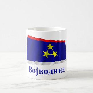 Vojvodina Waving Flag with Name in Serbian Classic White Coffee Mug