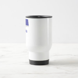 Vojvodina Waving Flag with Name in Serbian Travel Mug