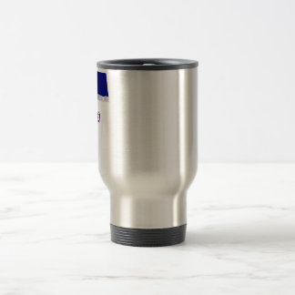 Vojvodina Waving Flag with Name Travel Mug